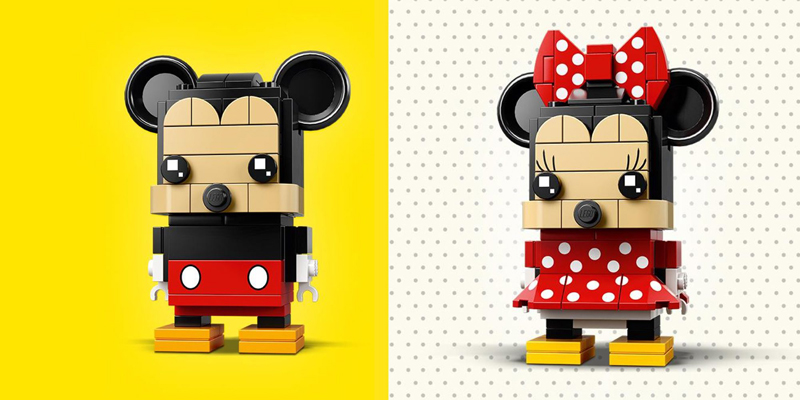 Celebrate 90 Years of Disney Magic with LEGO BrickHeadz Mickey Mouse (41624) and Minnie Mouse (41625)